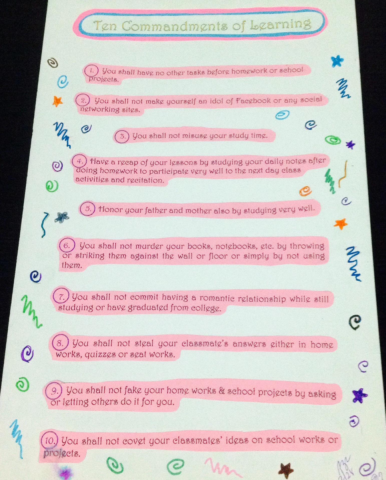 Ten Resume Writing Commandments | Ten Commandments Of Learning